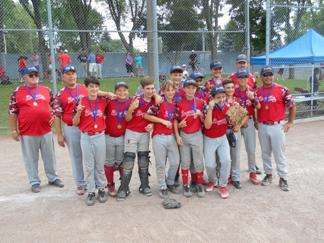 Pee Wee A Grey Braves Regionals Gold Medalist
